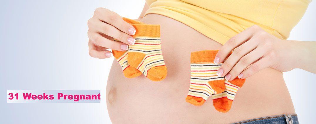 مادر در هفته 31 بارداری