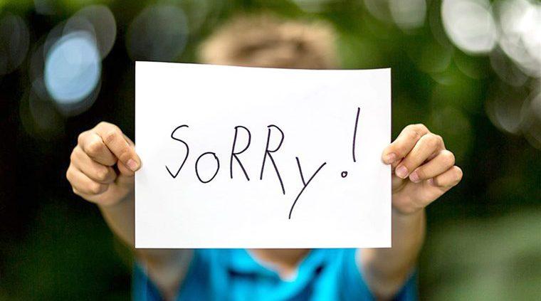 آموزش عذرخواهی کردن به کودکان